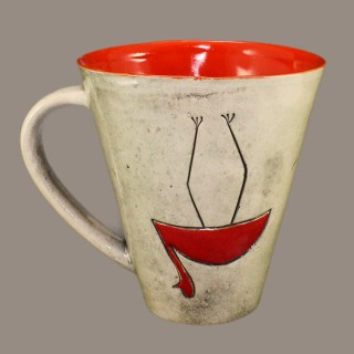 Mug with Two Birds Cups