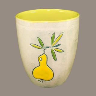 Yellow Pear Mug Cups