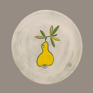 Yellow Pear - plate size S
